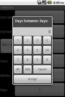 Screenshot of DaysCalc