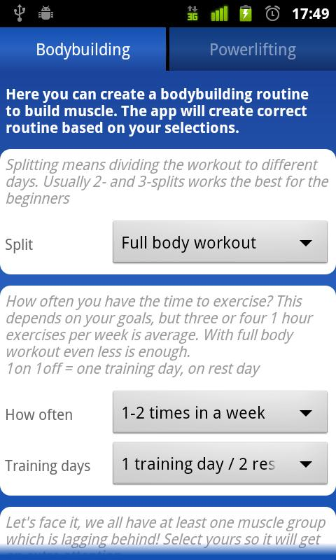 My Workout Routine - screenshot