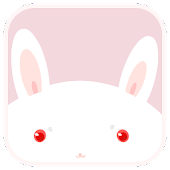 Cute White Rabbit Live Wallpap