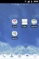 Screenshot of GO Launcher EX Theme Clouds