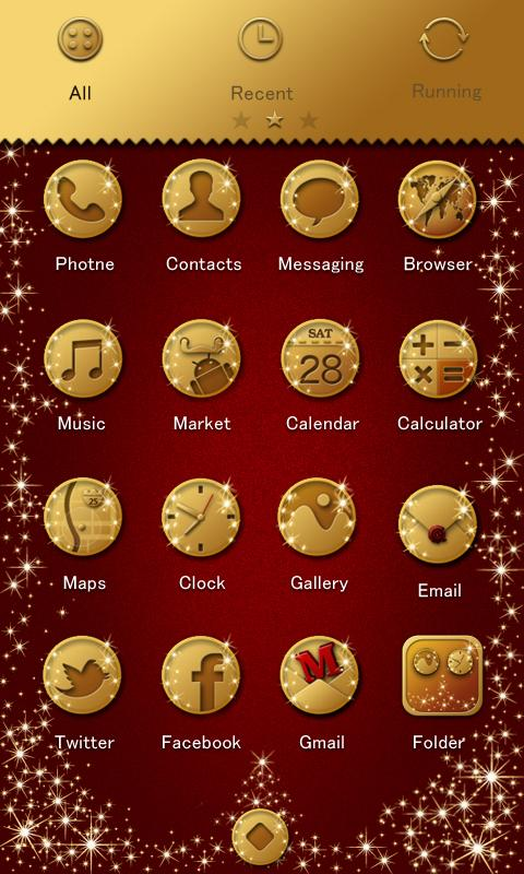 Christmas Theme GO Locker - screenshot
