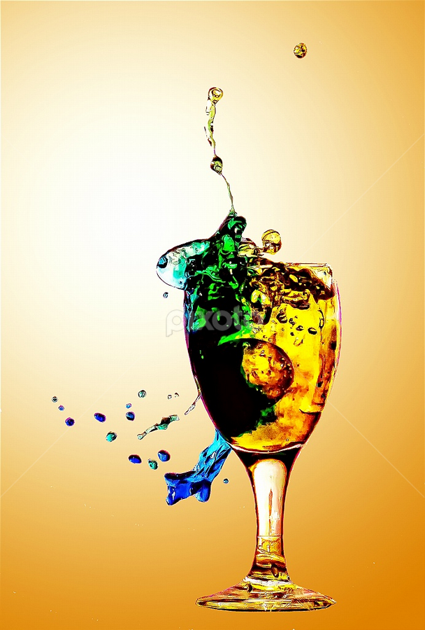 Splash....! by Agus Junam - Artistic Objects Glass