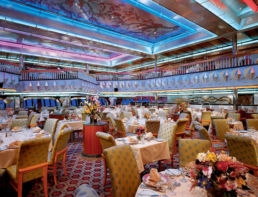 Carnival-Glory-Platinum-restaurant - Sit down for a multi-course meal in the elegant Platinum restaurant, one of Carnival Glory's two main dining halls.