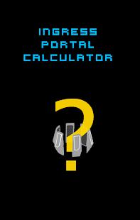 Ingress Portal Calculator