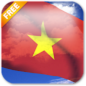 3D Vietnam Flag Live Wallpaper