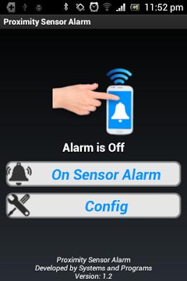 Proximity Sensor Alarm - screenshot
