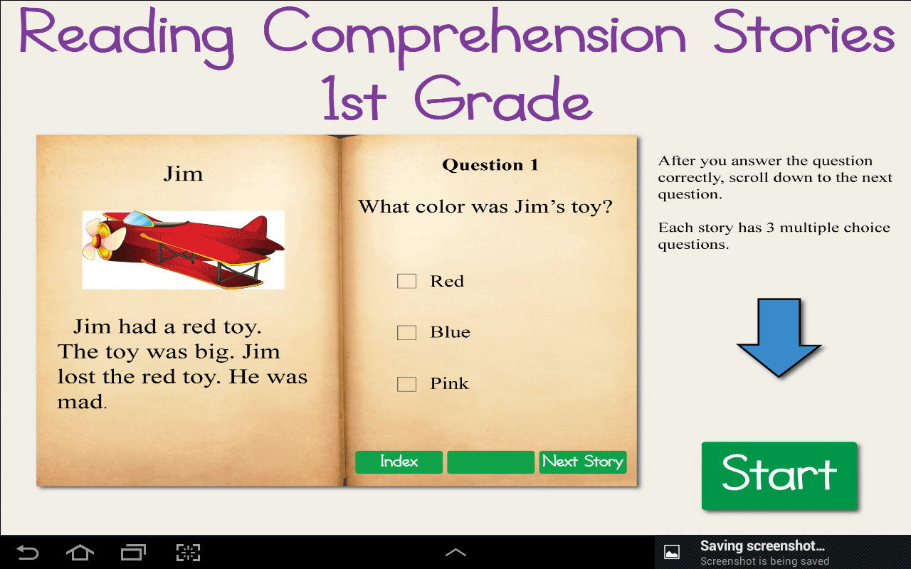 Worksheet Unseen Comprehension For Grade 1 reading comprehension grade 1 android apps on google play screenshot