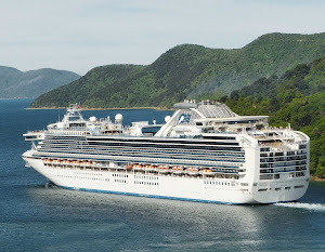 Diamond Princess in Queen Charlotte Sound, Marlborough, New Zealand.