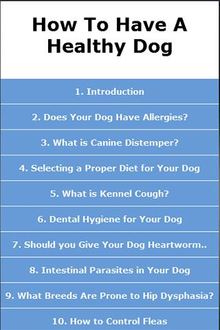 【免費書籍App】How To Have A Healthy Dog-APP點子