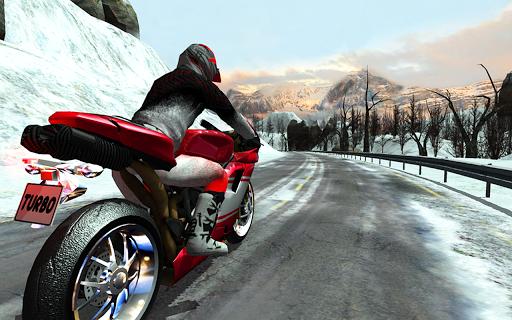 Frozen Highway Bike Rider