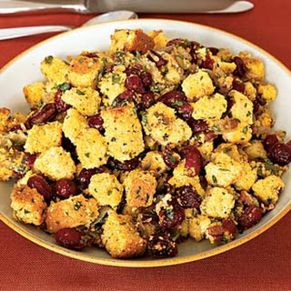 Corn Bread Stuffing With Cranberries.