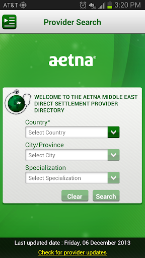 Aetna Middle East Provider