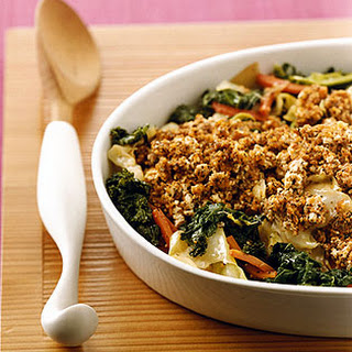 Vegetable Casserole with Tofu Topping.
