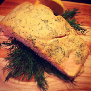 Dill Dijon Baked Salmon.