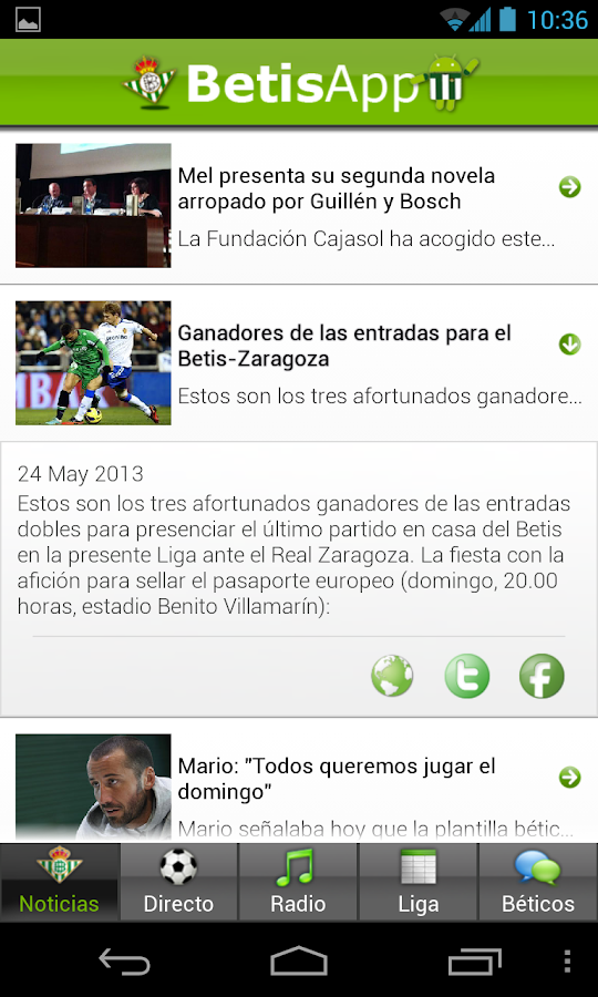 Betis App Lite - screenshot