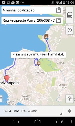 FloripaRide: Linhas de ônibus