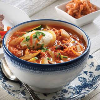 Korean Kimchi Stew with Tofu.