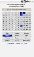 Screenshot of Lotto l'8 IT generatore numeri