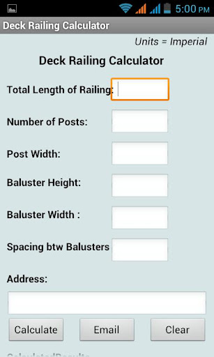 DeckRailing Calculator