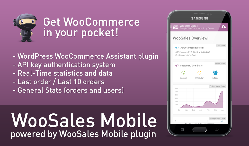 WooSales Mobile - WooCommerce- screenshot