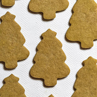 Green Tea Matcha Christmas Tree Cookies.