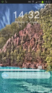GO Locker Theme lake mountains - screenshot thumbnail
