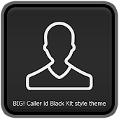 Big caller ID Theme Black Kit