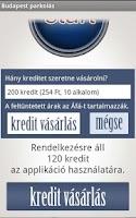 Screenshot of Budapest mobilparkolás