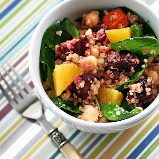 Quinoa Salad with Roasted Beets, Chick Peas and Orange