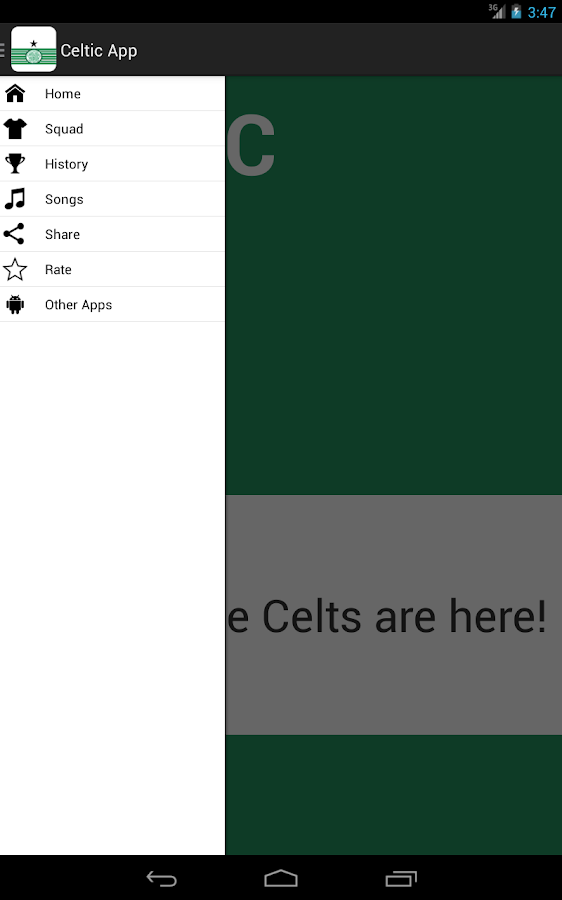 Celtic FC App- screenshot
