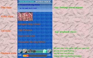 Screenshot of Pocket Music Player