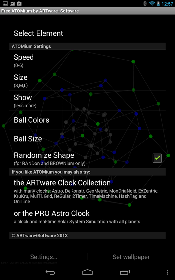 ATOMium 3D Free Live Wallpaper - screenshot