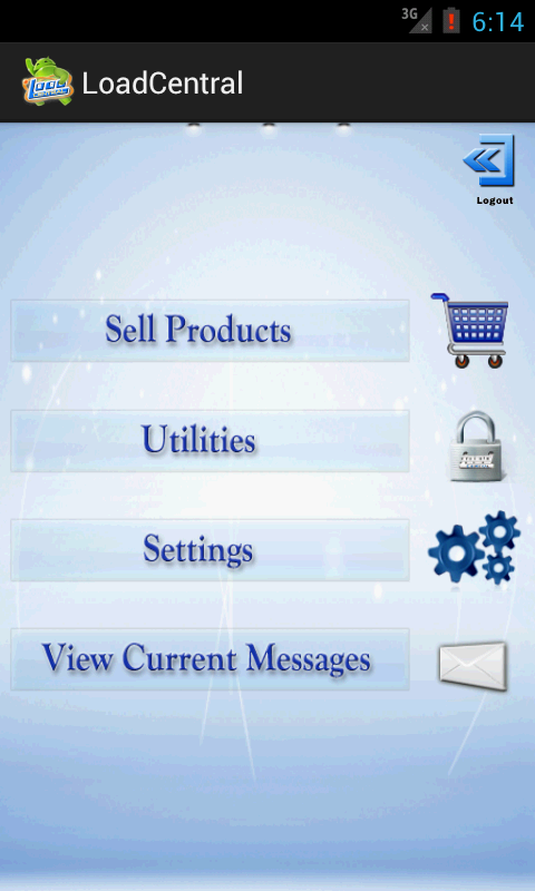 LoadCentral Retailer's App- screenshot