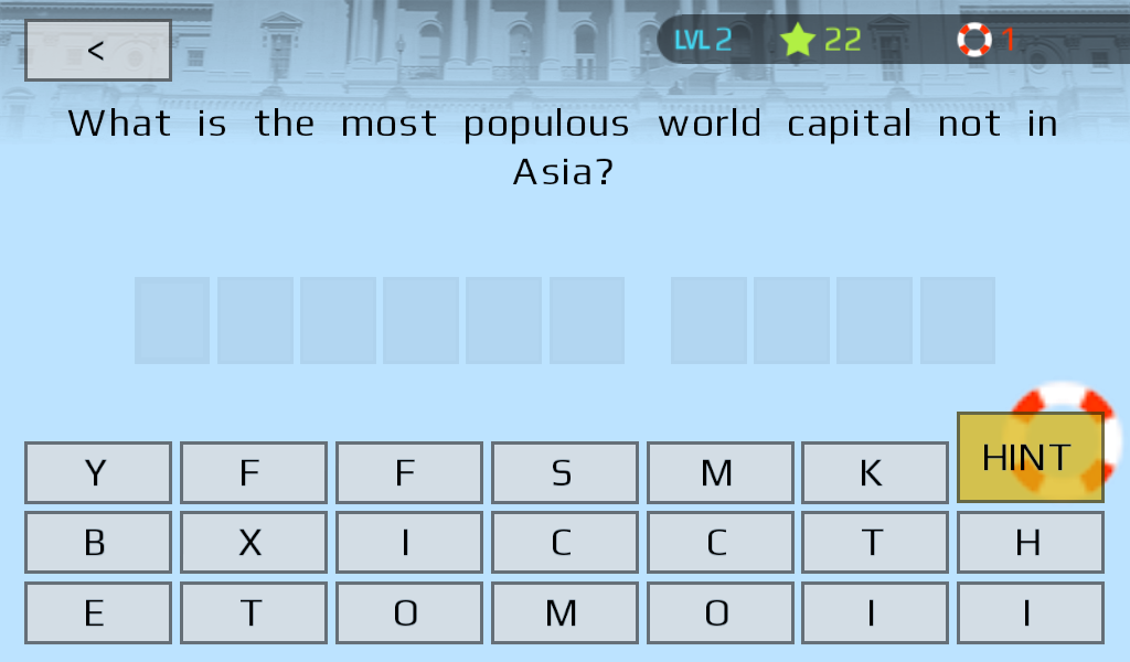 People & Places Trivia Game- screenshot