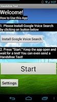 Screenshot of Handsfree Text Lite