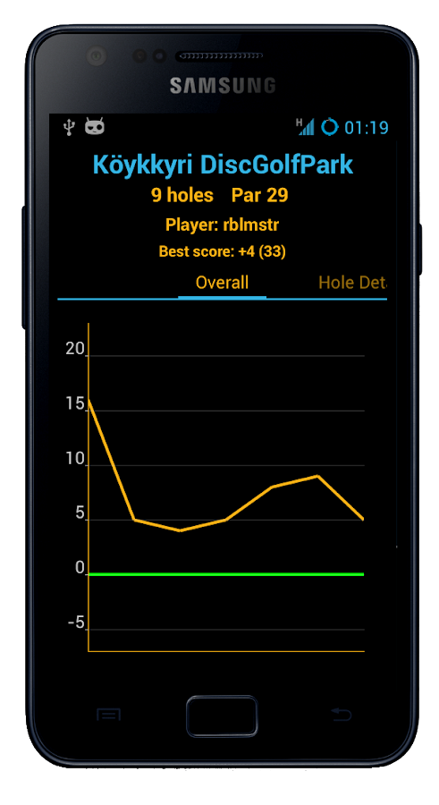 Disc Caddy 2 - Disc Golf app - screenshot