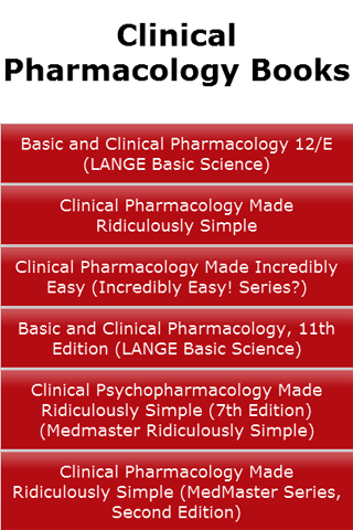 Clinical Pharmacology Books