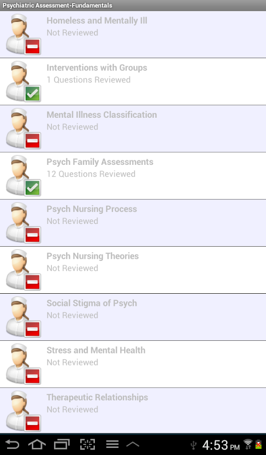Psych Nursing in a Flash- screenshot