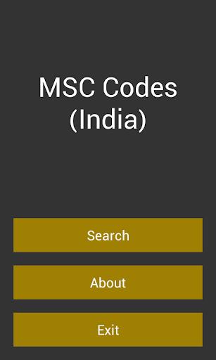MSC Codes India