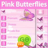 GO SMS Pro Pink Butterflies