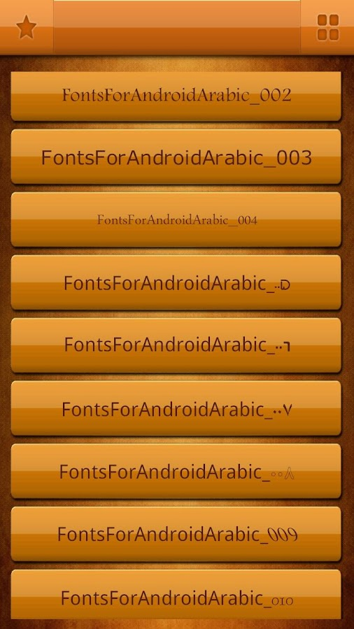 Arabic Fonts Free for Android- screenshot