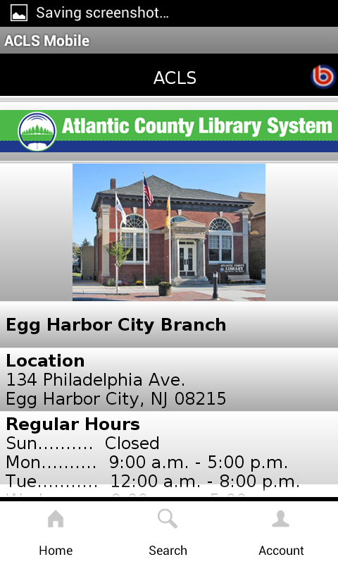 Atlantic County Library System- screenshot