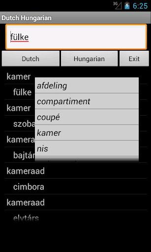 Dutch Hungarian Dictionary