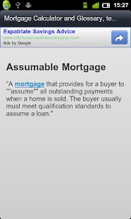 MortGage Glossary / Calculator - screenshot thumbnail