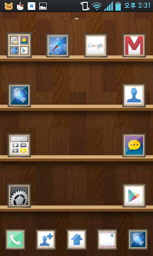 SHELVE go launcher theme