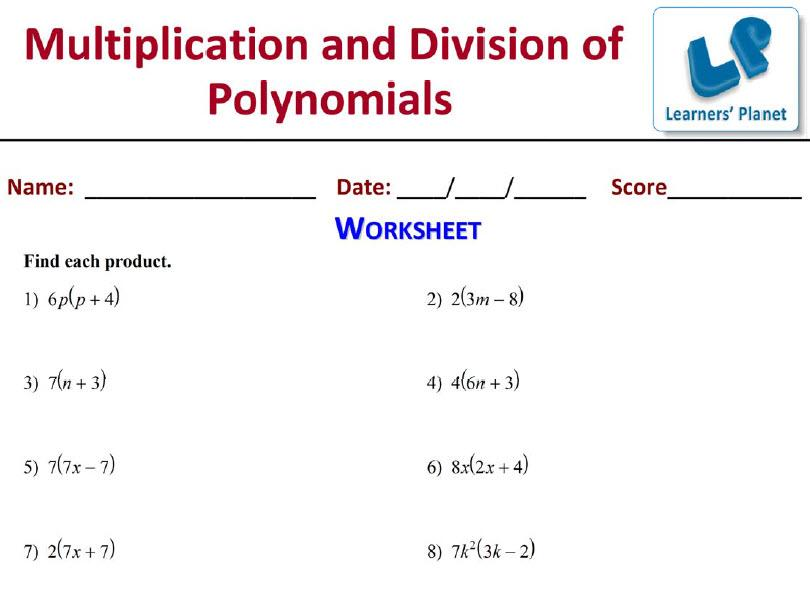 Polynomials Worksheet For Grade 10 Cbse Worksheet Kids – Math Grade 9 Worksheets