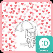 cold heart red rain 카카오톡 테마