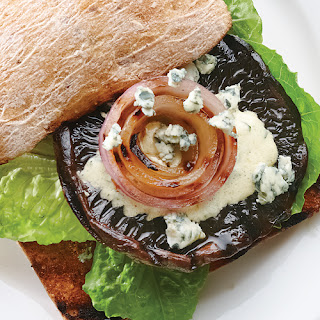 Grilled Portobello Burgers with Blue Cheese & Creamy Dijon