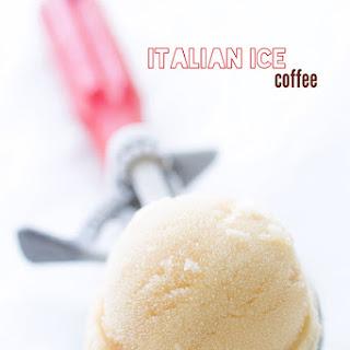 Coffee Italian ice.