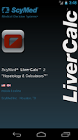 Screenshot of LiverCalc™
